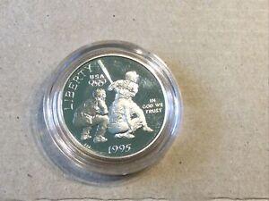 1995-S US Mint PROOF Clad Olympic Baseball Half Dollar w/Capsule #1285
