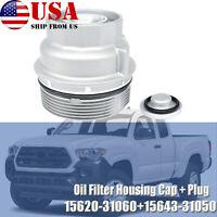 Oil Filter Housing Cap Cover Plug For Toyota Camry RAV4 Tundra Tacoma 1562031060