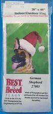 German Shepherd Christmas Santa Hat Indoor Outdoor Flag Barbara Van Vliet New