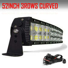 "TRI-Row 52inch 3654W Curved LED Light Bar Spot Flood Truck Offroad VS 54""50"" 22"""