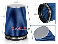 "6 Inches 152 mm Cold Air Intake Cone Truck Long Filter 6"" NEW BLUE Fit Nissan"