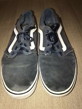 Vans Mens Size 8.5 Shoes Navy & White
