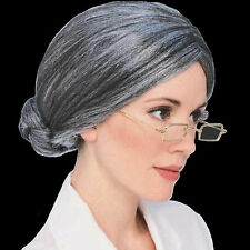 Old Lady Wig costume hair gray senior granny over the hill historical Rubies TV