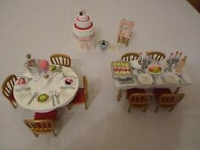 SYLVANIAN FAMILIES WEDDING FURNITURE SET RARE AND WEDDING CAKE ALMOST COMPLETE