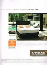 A- Publicité Advertising 2016 Mobilier Meubles Lit matelas Grand Litier