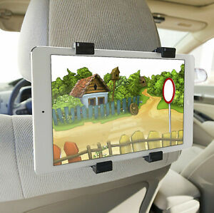 """360 Degree Holder Car Back Seat Mount Headrest For All 7"""" To 11"""" iPads & Tablets"""