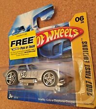 HOT WHEELS PRIME EDIZIONI breve CARD 2007 Shelby Cobra Daytona Coupe-RARE!