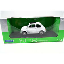 Fiat 500 1957 blanche Welly 1/18
