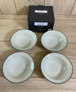 NEW Royal Doulton Gordon Ramsay Union Street Set of 4 Cream SMALL Bowls 13.5cm