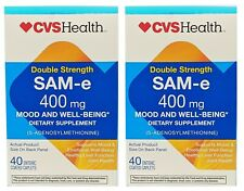 CVS Double Strength SAM-e 400mg EXP 2/21 (40) Mood & Well-Being - 2 Sealed NIB