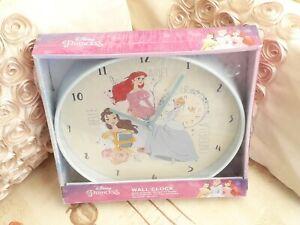 New Disney Princess Wall Clock Cinderella Belle Ariel Kid's Gift Decoration New.