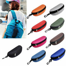 Fashion Sunglasses Protect Hard Case Clam Shell Eye Glasses Box Zipper Portable