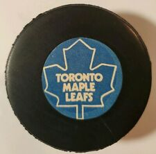 TORONTO MAPLE LEAFS NHL OFFICIAL GAME PUCK RARE VICEROY MFG. VINTAGE -CANADA GEM