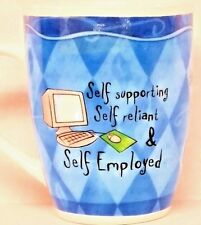 Greatest Self Employed Person Boss Ebayer Job H&H Porcelain Mug Cup Coffee Tea