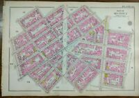 1916 GREENWICH VILLAGE MANHATTAN NYC ~ Map Macdougal Washington Square 7th Ave