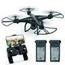 HS120D FPV Drones with 1080p HD Camera GPS RC Quadcotper Follow Me 2 Batteries