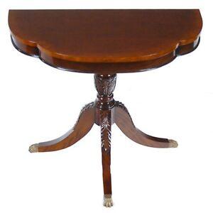NSI151, Niagara Furniture, Large Duncan Phyfe Console, Mahogany Console Table