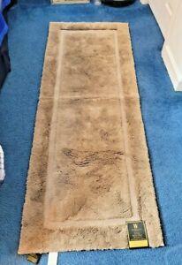 Wamsutta Ultra Soft Bath Rug non skid Pinnacle 24x60Pinnacle Taupe Color