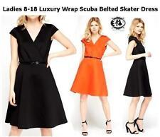 V-Neck Short Sleeve Dresses for Women with Belt