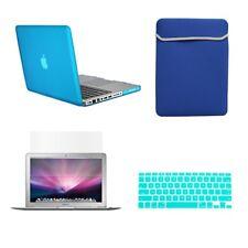 "4 in 1 Aqua Blue Rubberized Case for Macbook Pro 13"" A1425 Retina+Key+Lcd+Bag"