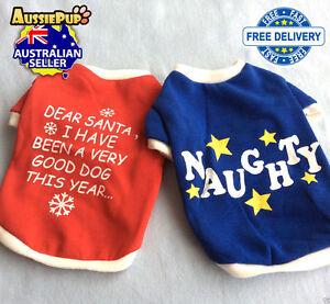 Nice & Naughty Christmas Clothes  - Pet Dog Costume - Xmas - Santa -