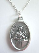 """Large St Gerard /OLO Perpetual Help Medal Pendant Necklace 20"""" Chain"""