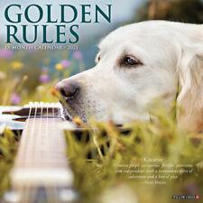 Golden Rules (dog breed calendar) 2021 Wall Calendar (Free Shipping)