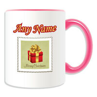 Personalised Gift Christmas Present Stamp Mug Money Box Cup Tea Coffee Xmas Star