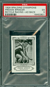 1926 SPALDING OLYMPICS FREDDIE SPENCER BICYCLE  AD BACK BGS 5  100 MINTED *