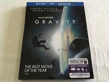 Gravity (2013) - Blu-Ray + DVD Region Free/1 | VGC | Sandra Bullock