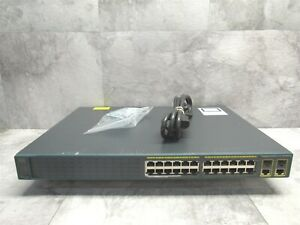 Cisco WS-C2960-24LC-S 24-Port 8 PoE + 2 Gigabit T/SFP Network Switch + Ears