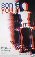 """SONIC YOUTH """"NYC GHOSTS & FLOWERS"""" U.S. PROMO POSTER - Alternative/Indie Rock"""