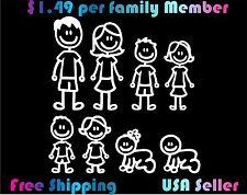 Family Stick Figure Decal Car Window Sticker $1.49 per Figure!!! custom
