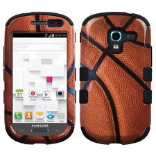 For Samsung Galaxy Exhibit T599 IMPACT TUFF HYBRID Case Skin Cover Basketball