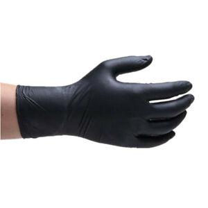 Black Blue Disposable Safety Mechanic Nitrile Gloves Latex Powder Free Workshop