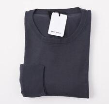 NWT $1550 KITON Dark Gray '14 Micron' Super 180s Wool Sweater XXL (Eu 58)