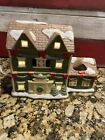 Liberty Bell Christmas Hand Painted Ceramic Village House Lighted With Box