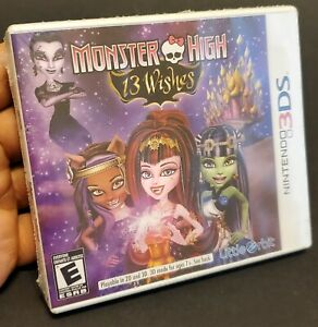 Monster High: 13 Wishes (Nintendo 3DS, 2013) Factory Sealed New