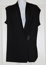 Womens size 12 black cross over top made by TARGET - buckle detail