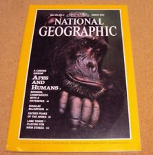 National Geographic Magazine March 1992 Douglas MacArthur Apes & Humans Tahoe