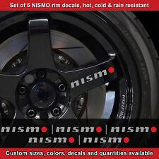 Nismo rim decal sticker adhesive all nissans 5 DECALS wheels handles 2.5sro etc