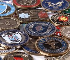 30 Coin Challenge Coin Random Grab Bag, Corporate, Personal, Military & Gov Etc