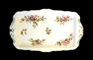 Beautiful Royal Albert Moss Rose Large Sandwich Tray