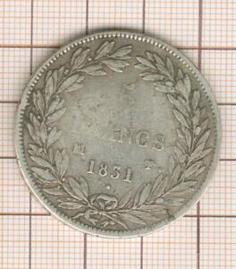 5 francs Louis Philippe tête nue 1831 MA Marseille