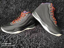 Bershka black/purple/orange low top court shoes/trainers