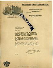 1926 LETTERHEAD Fort Worth Texas WILLIAM MONNIG DRY GOODS New York PHENIX GRIMES