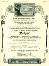 Publicité ancienne brosse à dents Dentclair 1925 issue de magazine