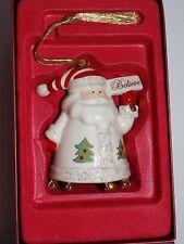 Lenox Santa'S Chimes Porcelain Bell Ornament New In Box