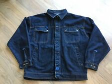 Fubu Mens Vintage 1990's  Denim Jean Jacket Full Zip With Buttons Size 3XL