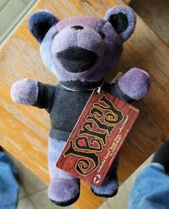 Grateful Dead Bean Bear Jerry Garcia Liquid Blue 1998 Plush Collectible